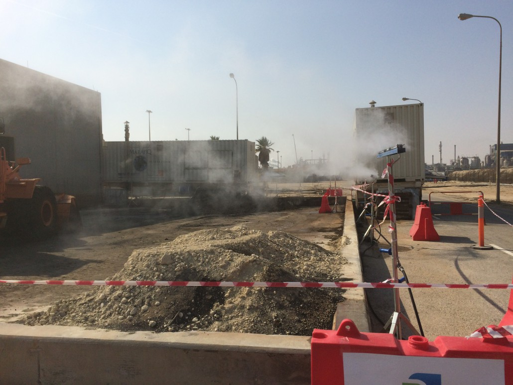 Odour neutralization water treatment facility, Saudi-Arabia